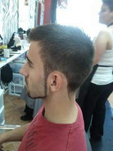 Photo d'une coupe graduelle avec une barbe