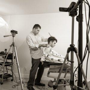 Photo d'un shooting vidéo de coiffure