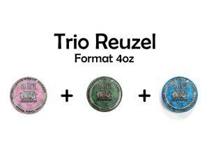Trio Reuzel Rose Vert Bleu 4oz