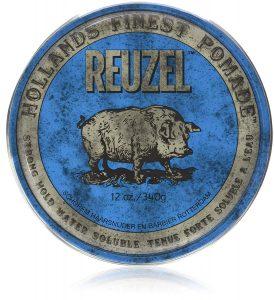 Reuzel bleu tenue ferme soluble à l'eau Reuzel Strong Hold Water Solube High Sheen 12oz 340g