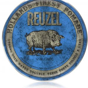 Reuzel bleu tenue ferme soluble à l'eau Reuzel Strong Hold Water Solube High Sheen 12oz 340g