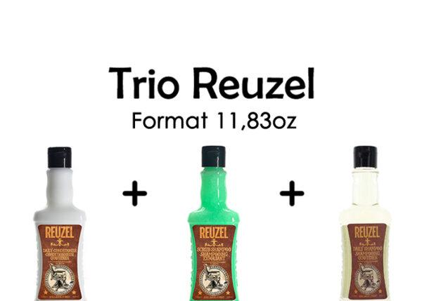 Trio reuzel shampooings avec revitalisant