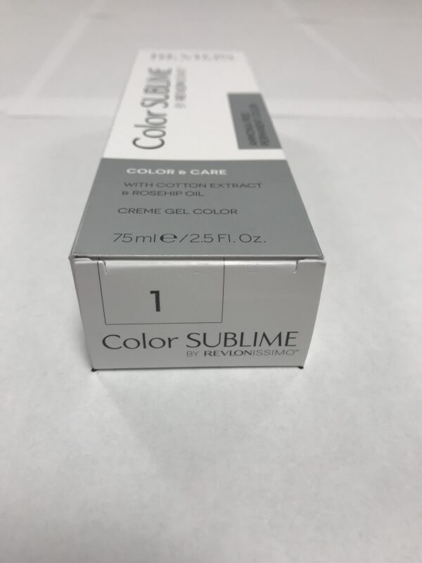 Color SUBLIME BY REVLONISSIMO 1 noir 75ml