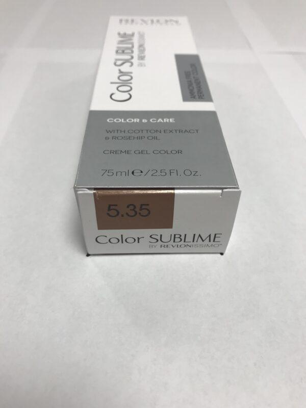 Color SUBLIME BY REVLONISSIMO 5.35 chataîn clair ambré 75ml