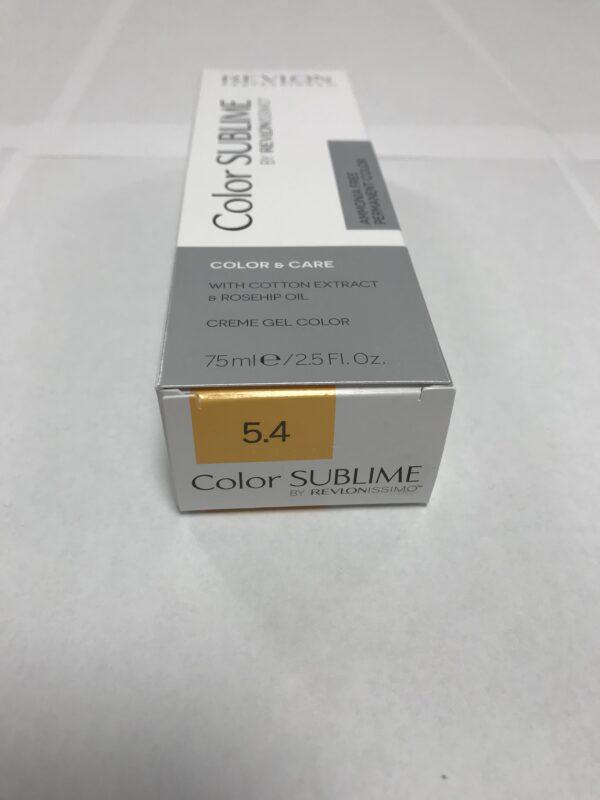 Color SUBLIME BY REVLONISSIMO 5.4 chataîn clair cuivré 75ml