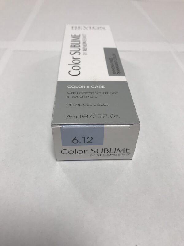 Color SUBLIME BY REVLONISSIMO 6.12 blond foncé cendré irisé 75ml