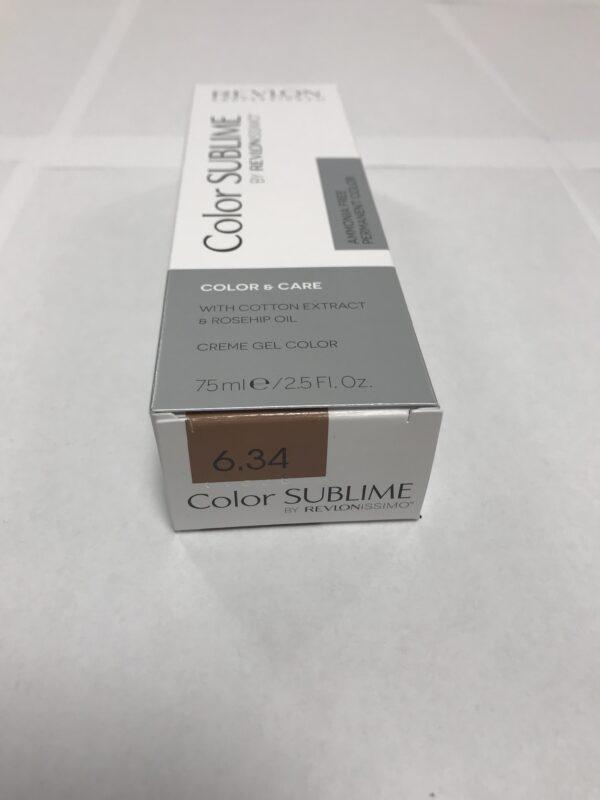Color SUBLIME BY REVLONISSIMO 6.34 blond foncé doré cuivré 75ml