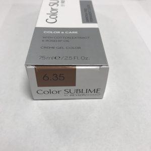 Color SUBLIME BY REVLONISSIMO 6.35 blond foncé ambré 75ml