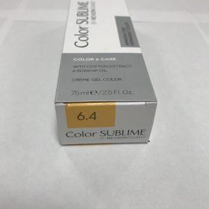 Color SUBLIME BY REVLONISSIMO 6.4 blond foncé cuivré 75ml