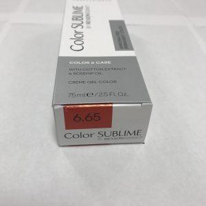 Color SUBLIME BY REVLONISSIMO 6.65 blond foncé rouge acajou 75ml