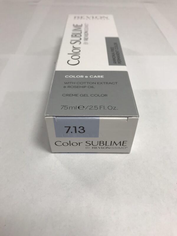 Color SUBLIME BY REVLONISSIMO 7.13 blond moyen très cendré doré 75ml
