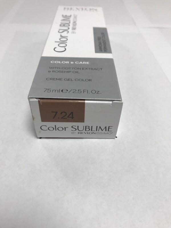 Color SUBLIME BY REVLONISSIMO 7.24 blond moyen perlé cuivré 75ml