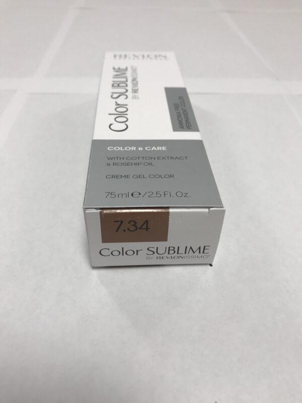 Color SUBLIME BY REVLONISSIMO 7.34 blond moyen doré cuivré 75ml