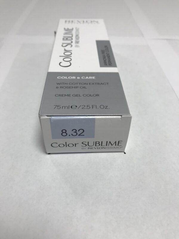 Color SUBLIME BY REVLONISSIMO 8.32 blond clair doré nacré 75ml
