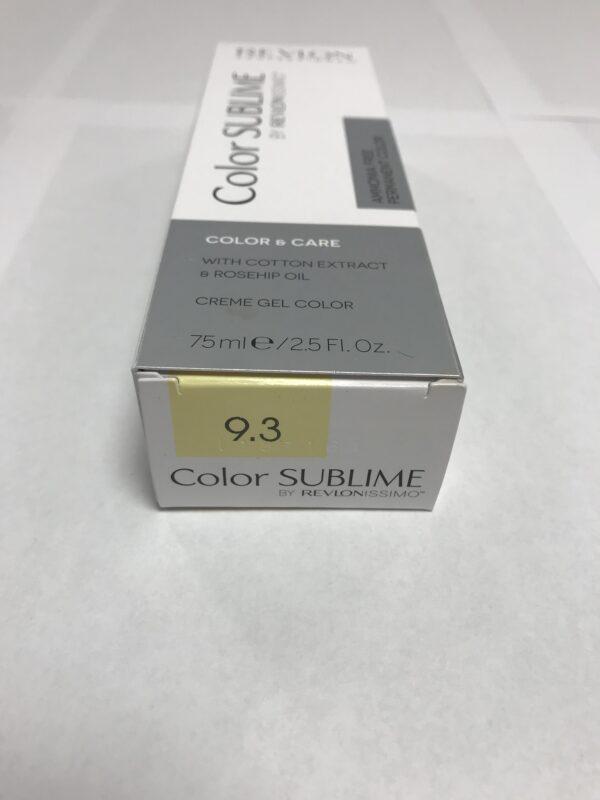 Color SUBLIME BY REVLONISSIMO 9.3 blond très clair doré 75ml